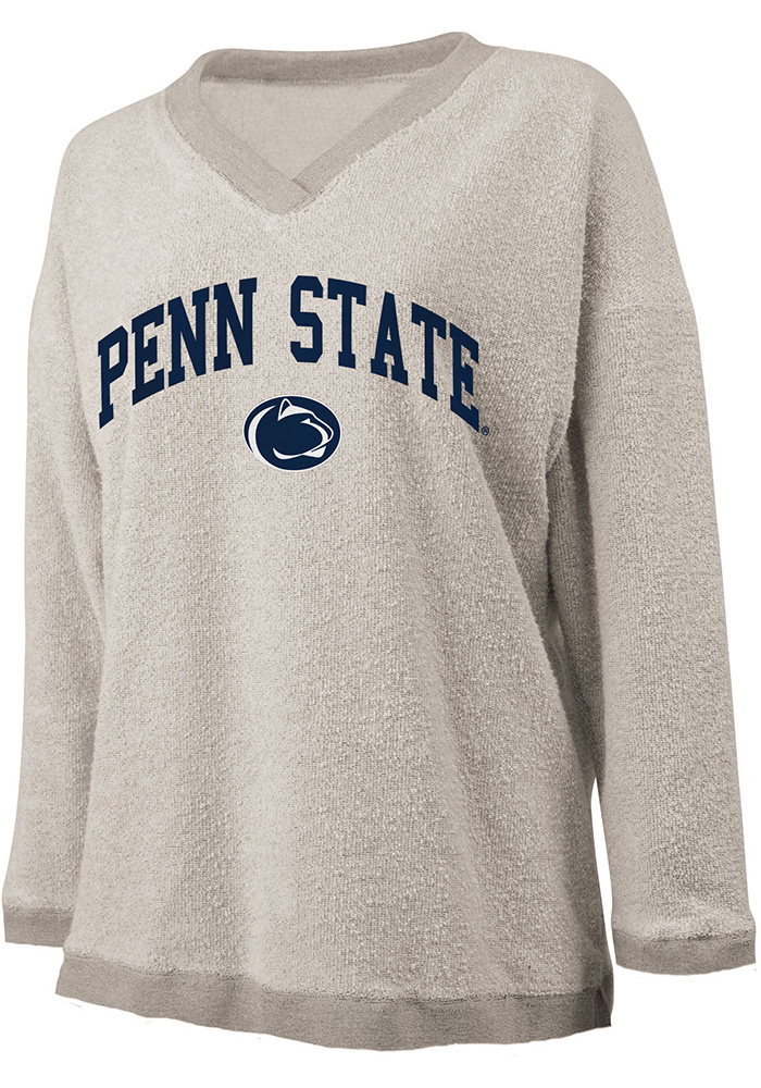 Penn State Nittany Lions Womens Oatmeal Campus Crew Sweatshirt - Image 1