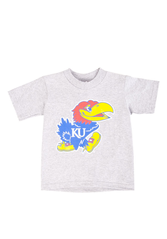 Kansas Jayhawks Toddler Grey Mascot Short Sleeve T-Shirt - Image 1
