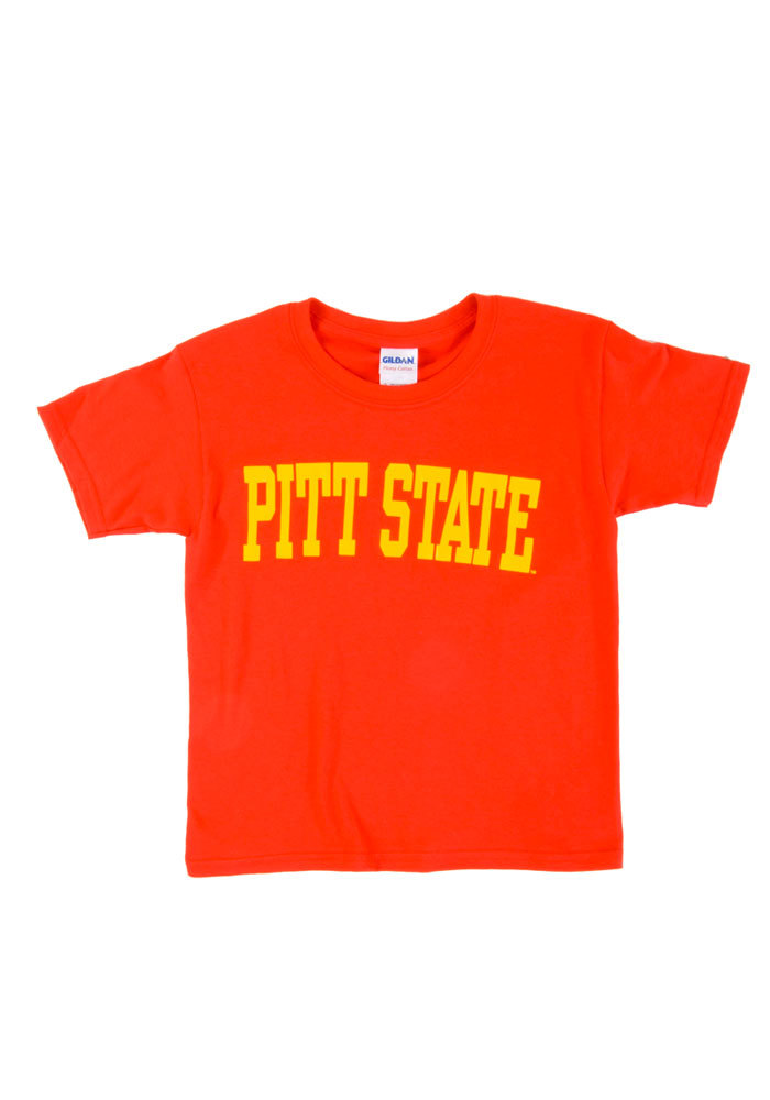Pitt State Gorillas Youth Red Block Short Sleeve T-Shirt - Image 1
