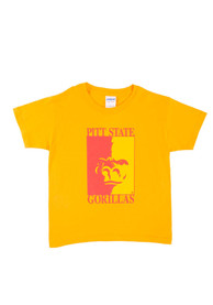 Pitt State Gorillas Youth Gold Mascot T-Shirt