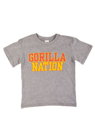 Pitt State Gorillas Youth Grey Nation Fashion Tee