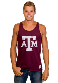 Original Retro Brand Texas A&M Aggies Maroon Vintage Fitted Tank Top