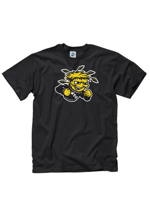 WSU Mens Black Mascot Tee