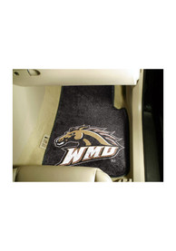 Sports Licensing Solutions Western Michigan Broncos 2-Piece Carpet Car Mat - Black