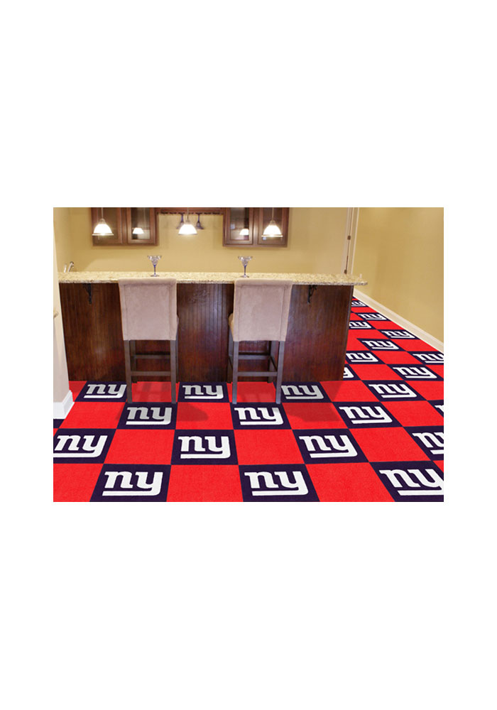 New York Giants 18x18 Team Tiles Interior Rug - Image 1