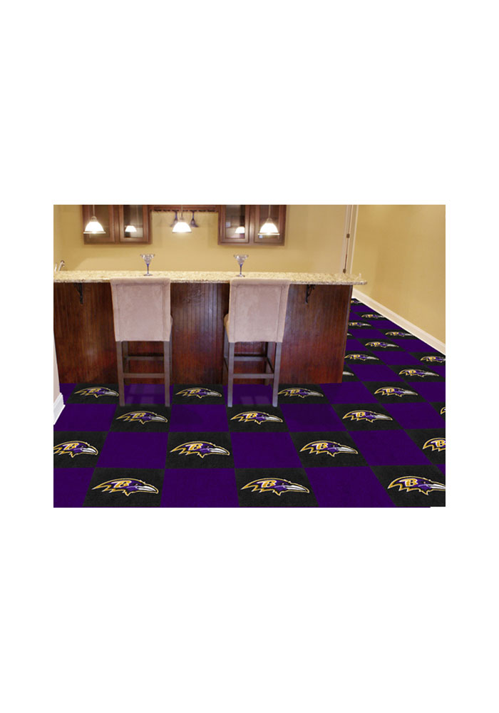 Baltimore Ravens 18x18 Team Tiles Interior Rug - Image 1