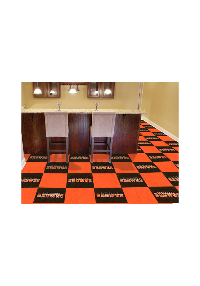 Cleveland Browns 18x18 Team Tiles Interior Rug - Image 1