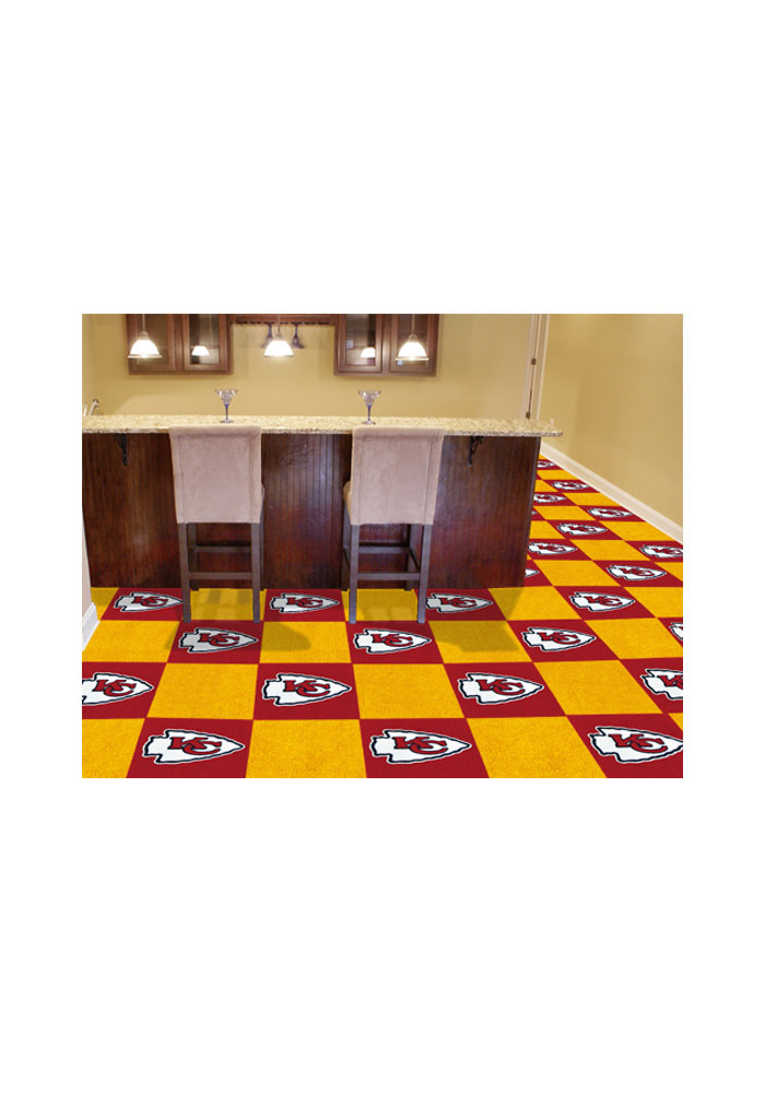 Kansas City Chiefs 18x18 Team Tiles Interior Rug - Image 1