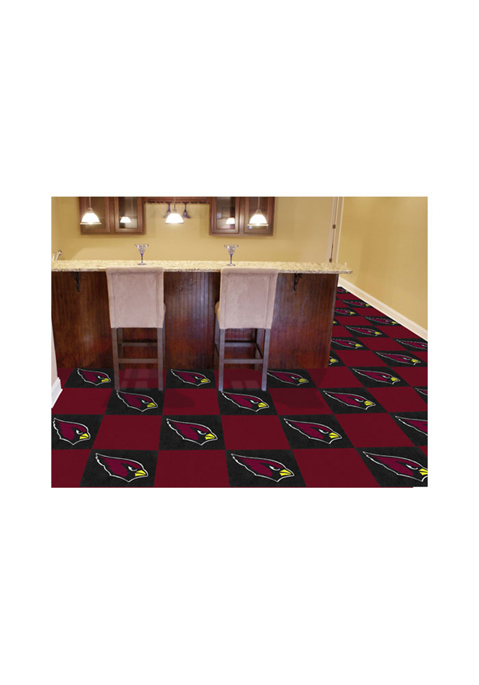 Arizona Cardinals 18x18 Team Tiles Interior Rug - Image 1