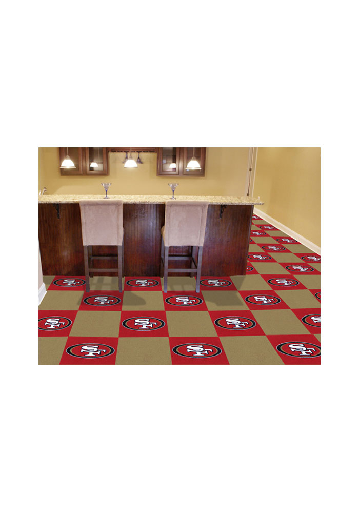 San Francisco 49ers 18x18 Team Tiles Interior Rug - Image 1