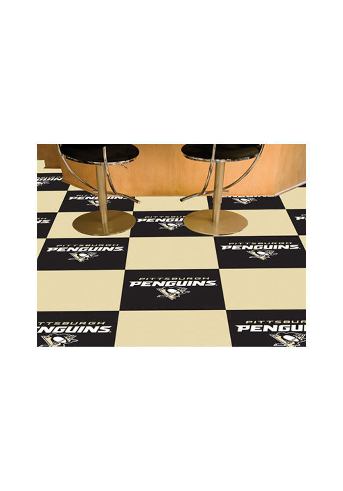 Pittsburgh Penguins 18x18 Team Tiles Interior Rug - Image 1