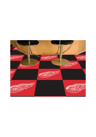 Detroit Red Wings 18x18 Team Tiles Interior Rug - Image 2