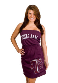 Original Retro Brand Texas A&M Aggies Juniors Maroon Strapless Dress