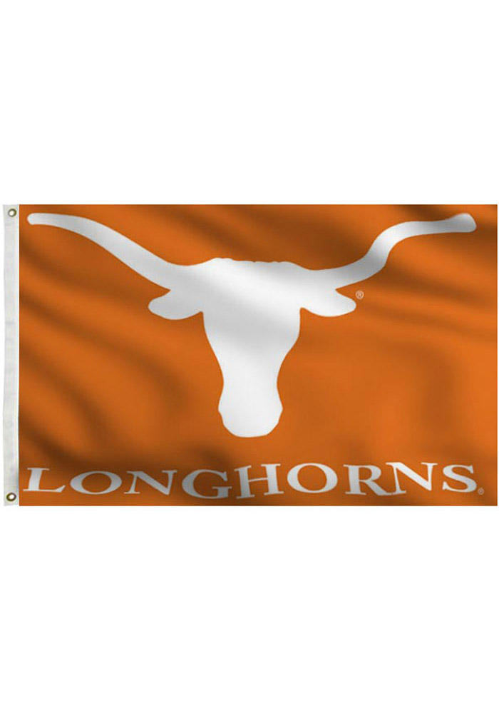 Texas Longhorns 3x5 Orange Grommet Orange Silk Screen Grommet Flag - Image 1
