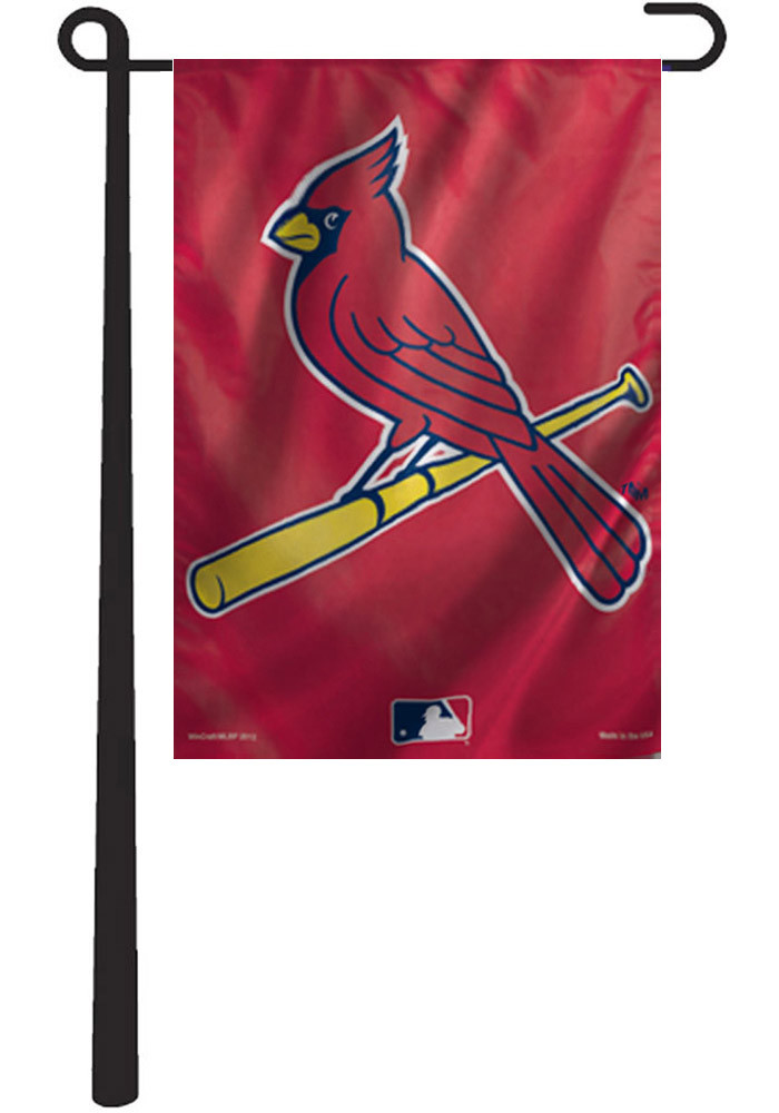 St Louis Cardinals 11x15 Red Garden Flag - Image 1