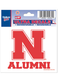 Nebraska Cornhuskers 3x4 Alumni Auto Decal - Red