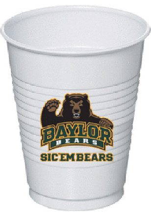 Baylor Bears 8 Pack Disposable Cups