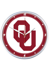 Oklahoma Sooners 12.75in Round Wall Clock