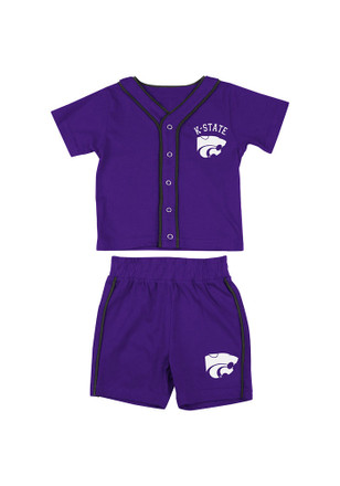 Colosseum K-State Wildcats Toddler Purple Fielder Top and Bottom