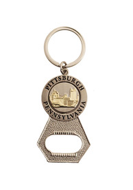 Pittsburgh Bottle Opener Keychain