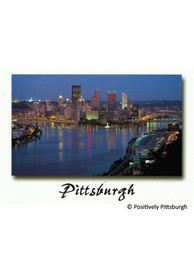 Pittsburgh Skyline at Night Postcard