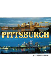 Pittsburgh Skyline Dusk and Night Postcard