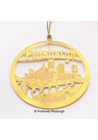 Pittsburgh Gold Ornament