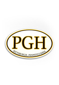 Pittsburgh PGH Auto Decal - White