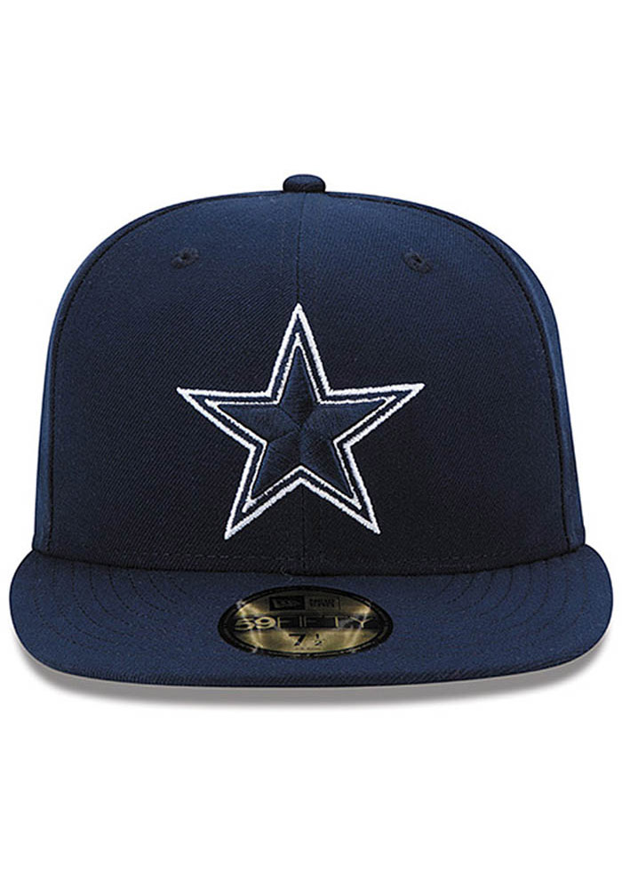 Dallas Cowboys Mens Navy Blue Classic Fitted Hat - Image 1