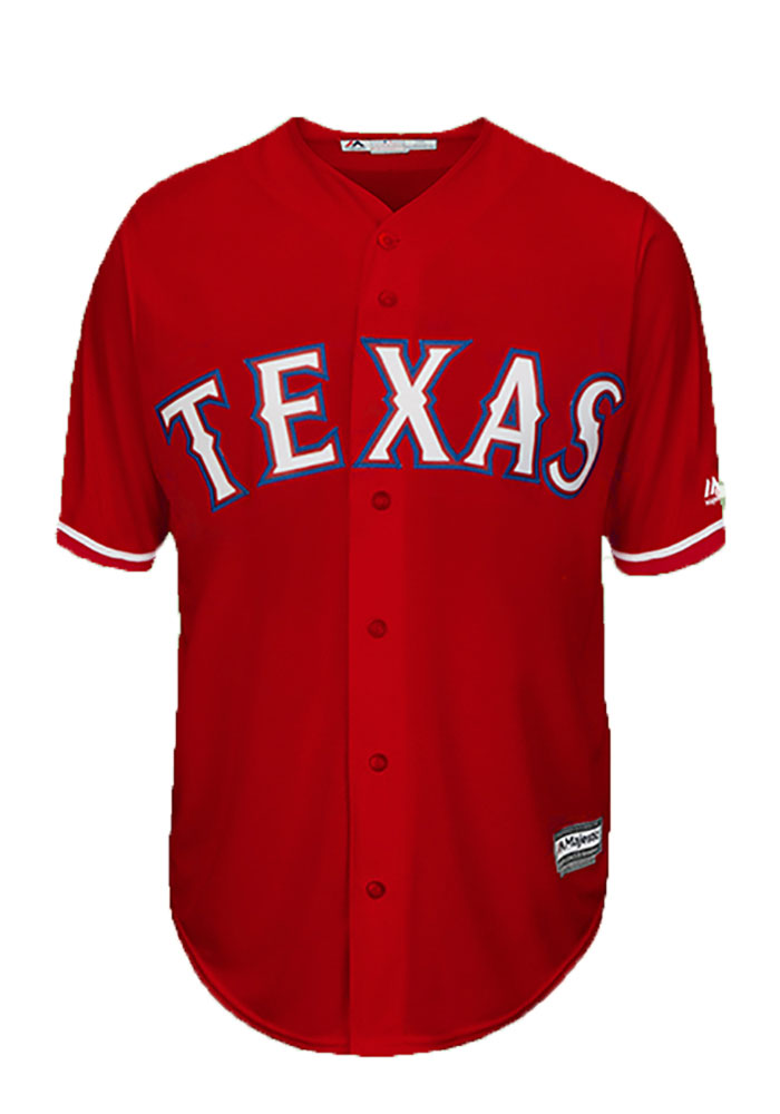 Alex Claudio Texas Rangers Mens Replica Player Jersey - Red - Image 2
