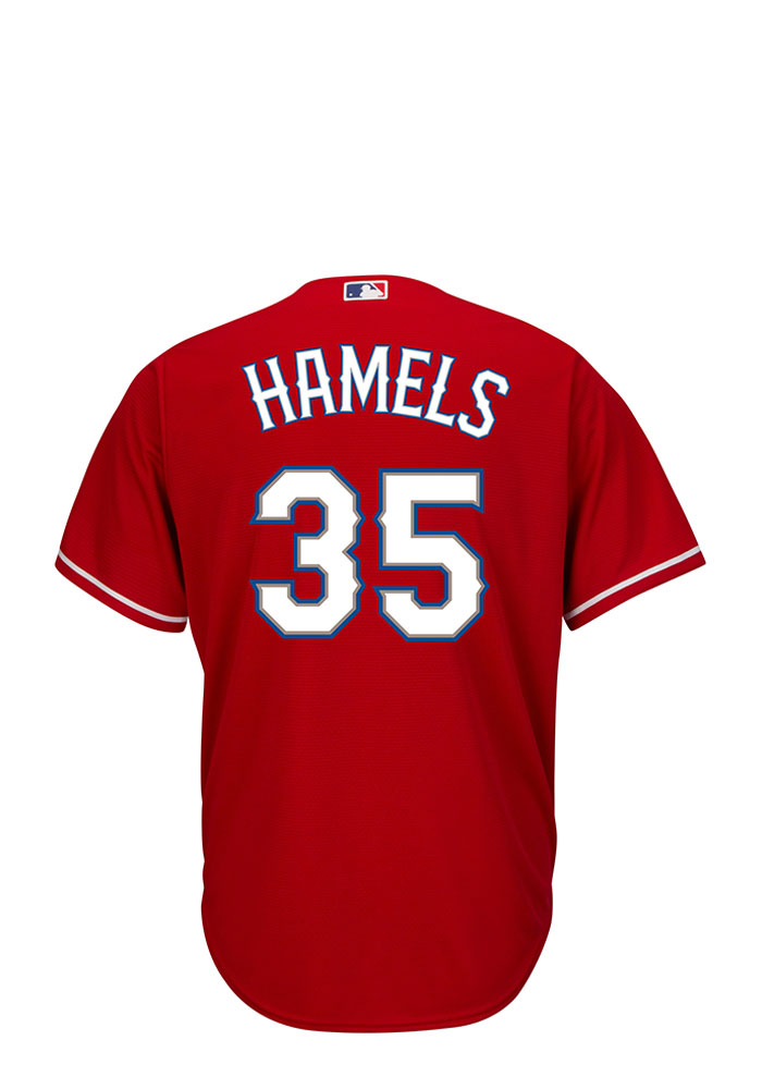 Cole Hamels Texas Rangers Mens Replica Player Jersey - Red - Image 1