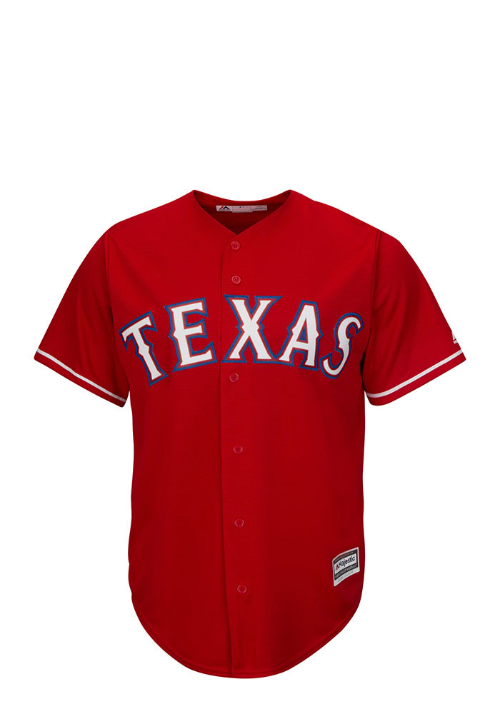 Cole Hamels Texas Rangers Mens Replica Player Jersey - Red - Image 2