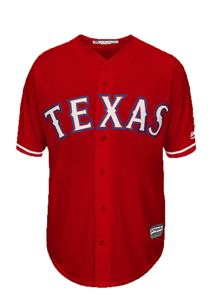 Colby Lewis Texas Rangers Mens Replica Player Jersey - Red - Image 2