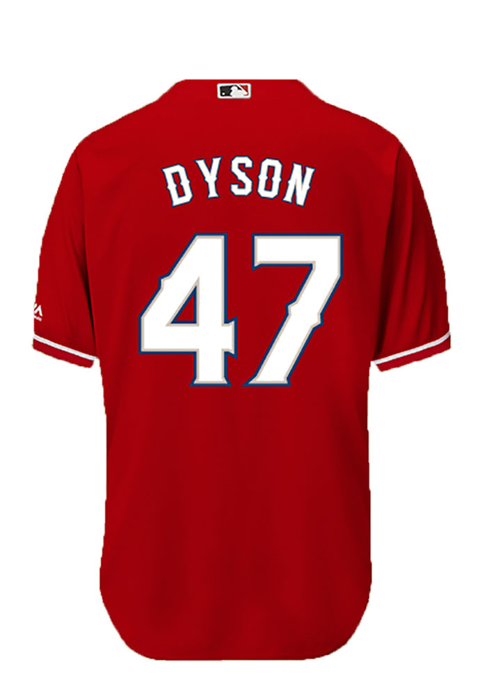 Sam Dyson 47 Texas Rangers Mens White Player Replica Jersey - Image 1