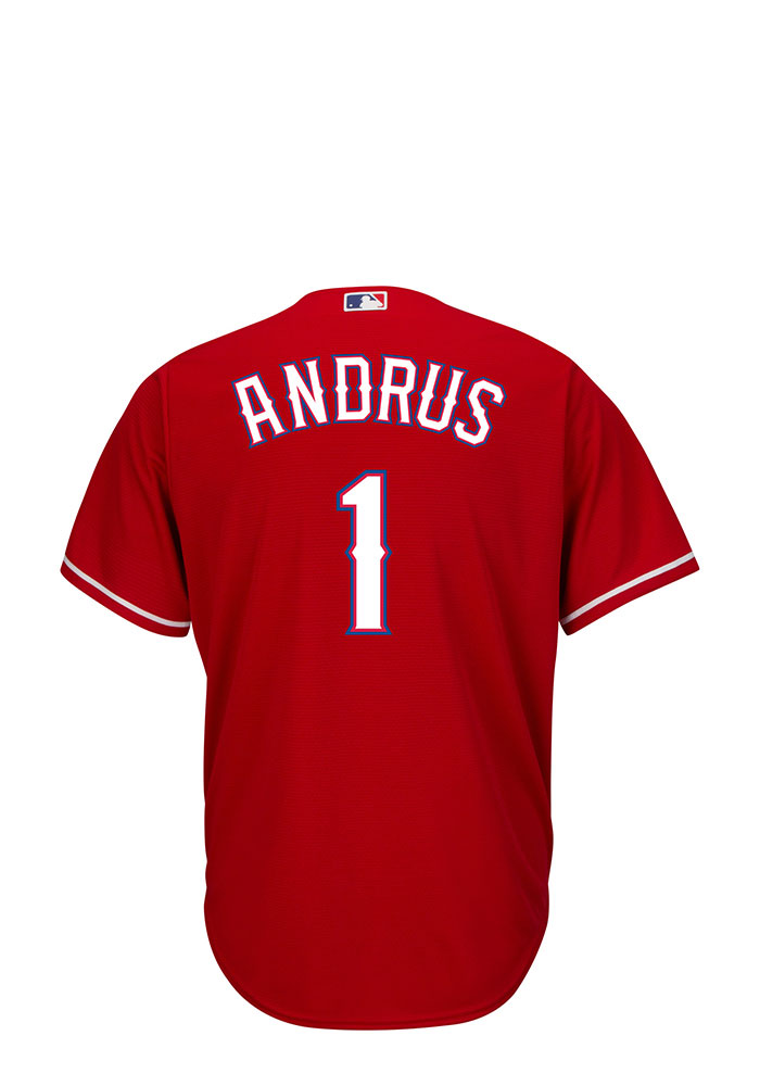 Elvis Andrus Texas Rangers Mens Replica Player Jersey - Red - Image 1