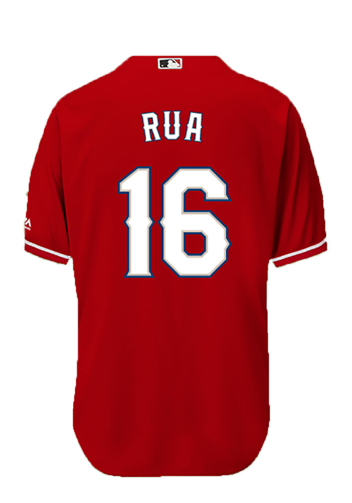 Ryan Rua Texas Rangers Mens Replica Player Jersey - Red - Image 1