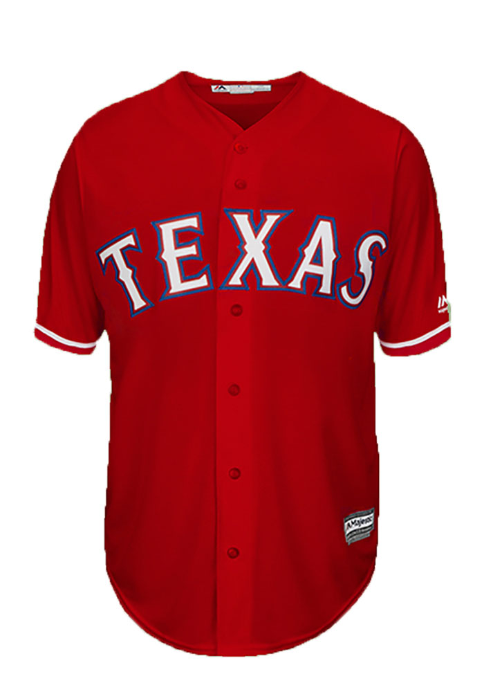 Ryan Rua Texas Rangers Mens Replica Player Jersey - Red - Image 2