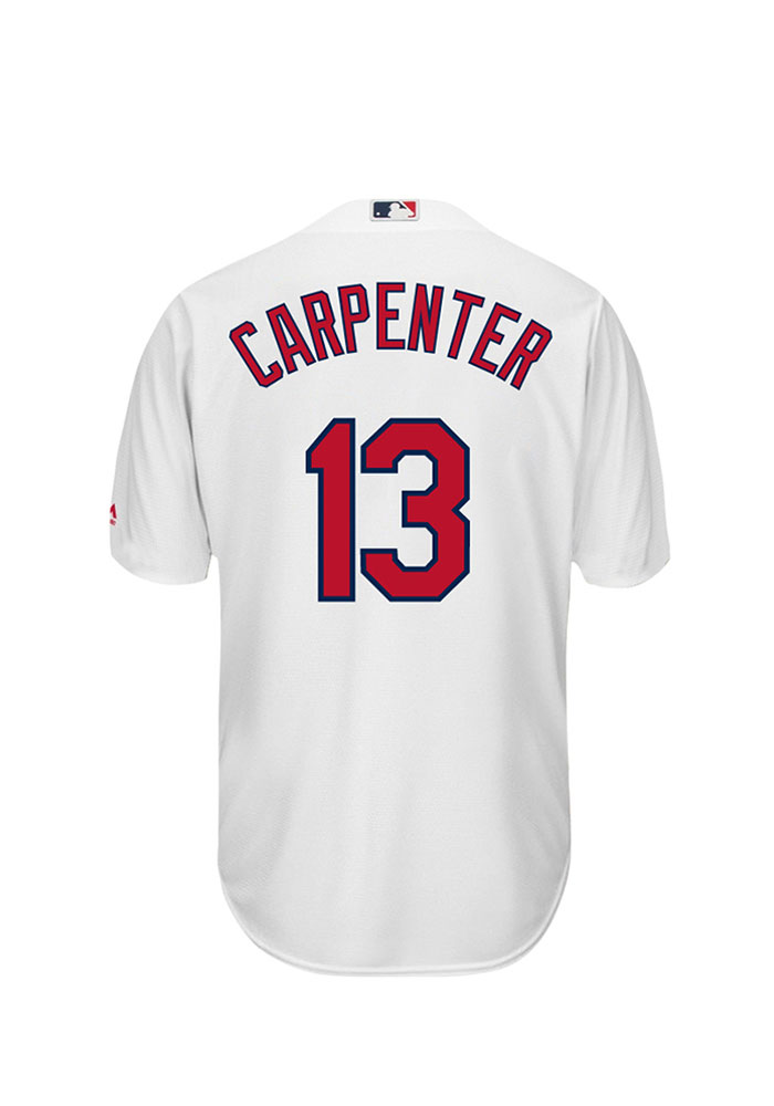 Matt Carpenter 13 St Louis Cardinals Mens White Player Replica Jersey - Image 1