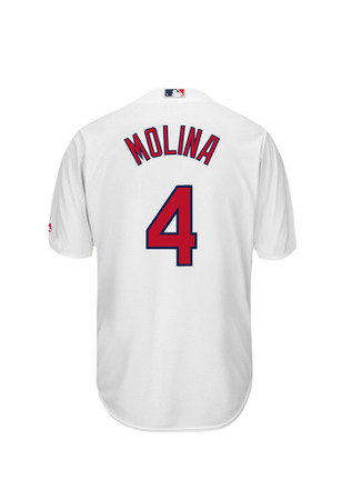 Yadier Molina STL Cardinals Mens white Player Replica Jersey
