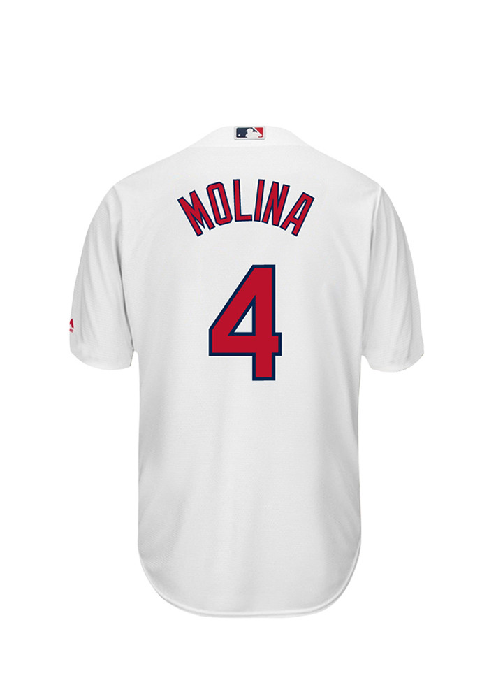 Yadier Molina 4 St Louis Cardinals Mens White Player Replica Jersey - Image 1