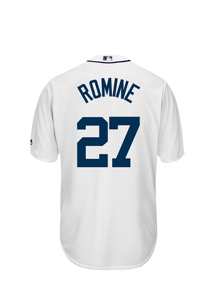 Andrew Romine 27 Detroit Tigers Mens White Player Replica Jersey - Image 1