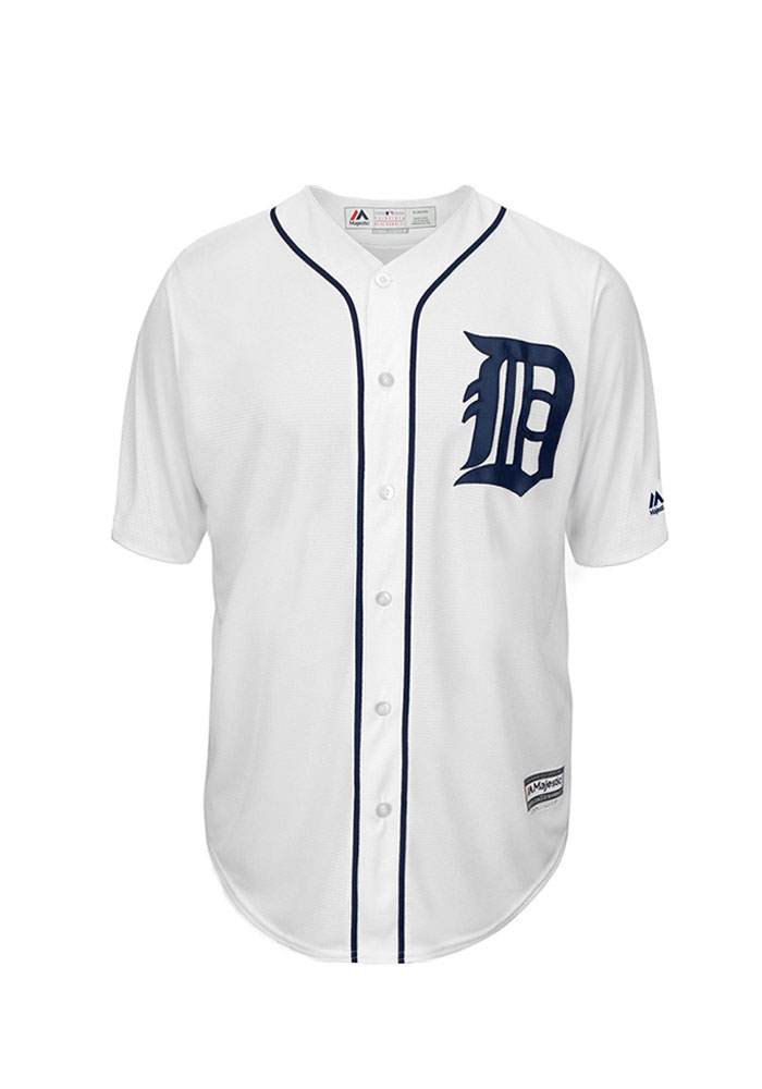 Andrew Romine 27 Detroit Tigers Mens White Player Replica Jersey - Image 2