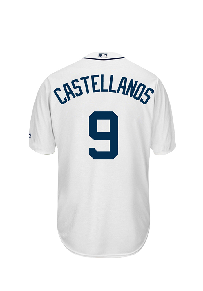 Nick Castellanos 9 Detroit Tigers Mens White Player Replica Jersey - Image 1