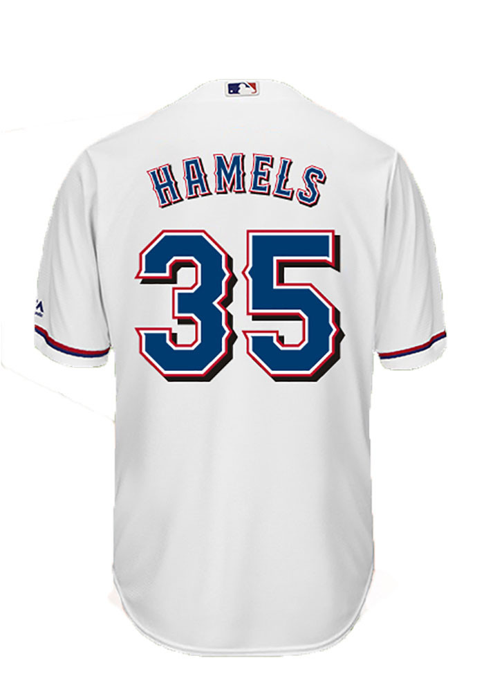 Cole Hamels 35 Texas Rangers Mens White Player Replica Jersey - Image 1