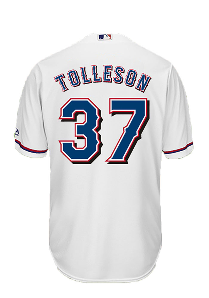 Shawn Tolleson 37 Texas Rangers Mens White Player Replica Jersey - Image 1