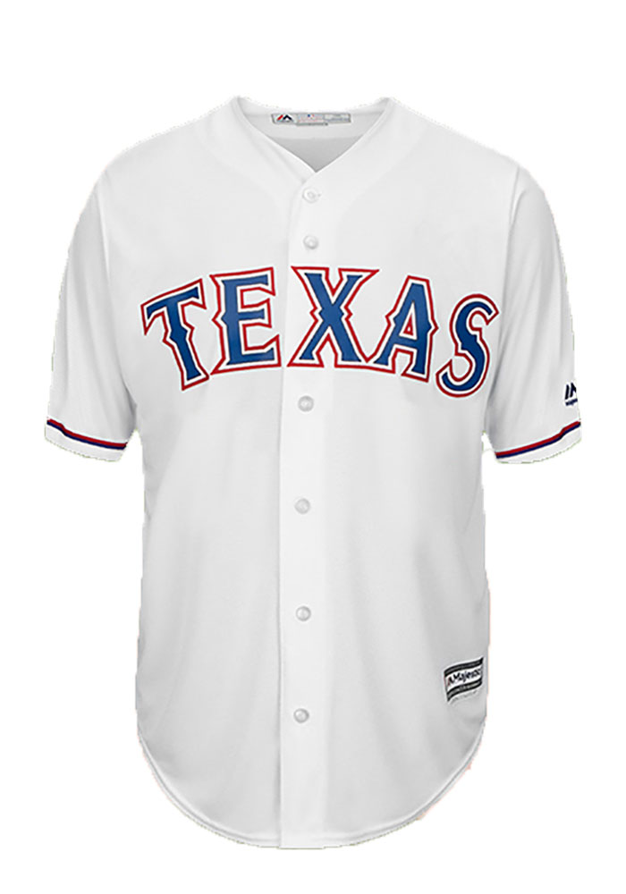 Delino DeShields 7 Texas Rangers Mens White Player Replica Jersey - Image 2