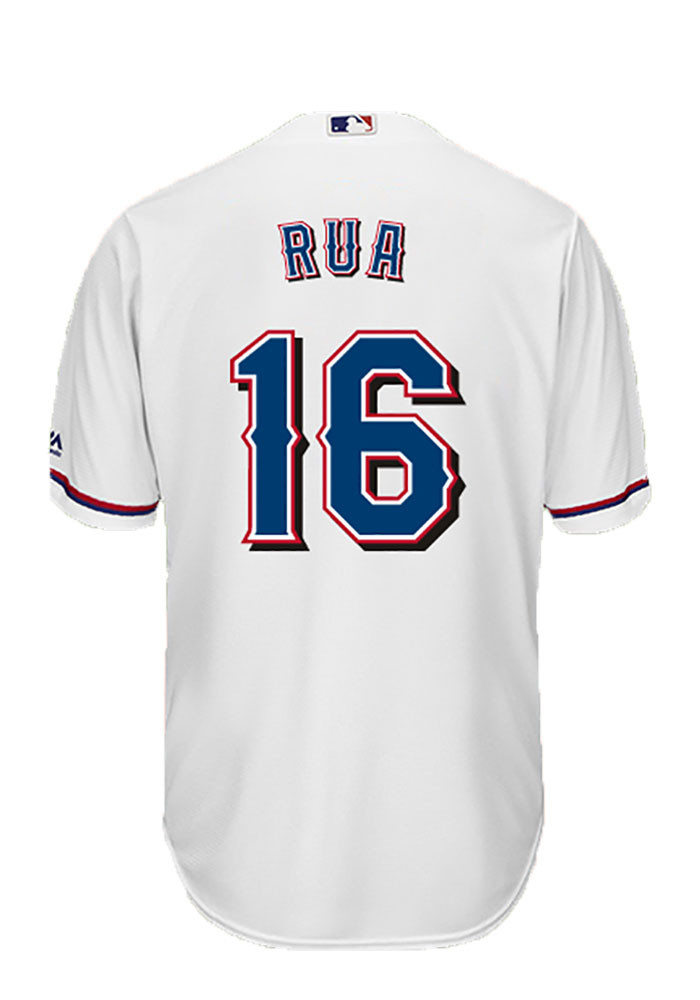 Ryan Rua 16 Texas Rangers Mens White Player Replica Jersey - Image 1