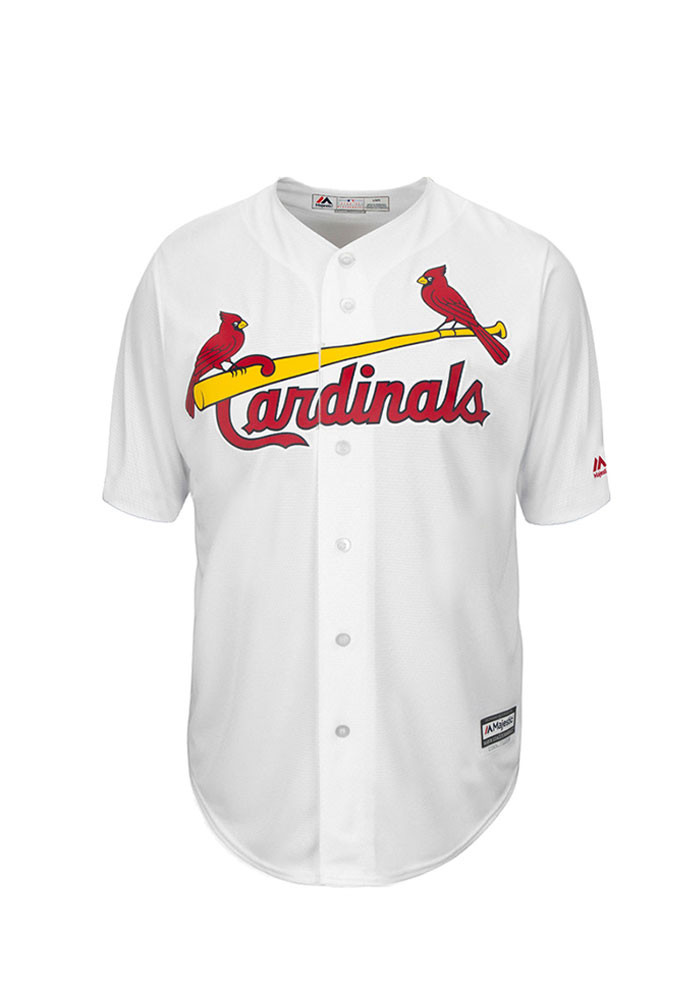 Greg Garcia 35 St Louis Cardinals Mens White Player Replica Jersey - Image 2