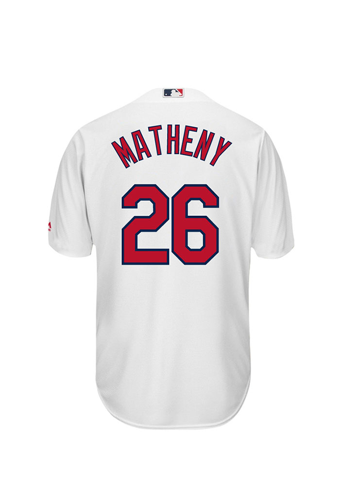 Mike Matheny 26 St Louis Cardinals Mens White Player Replica Jersey - Image 1