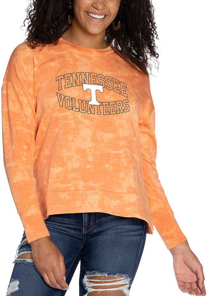 Tennessee Volunteers Womens Orange Brandy Tie Dye Long Sleeve T-Shirt - Image 1